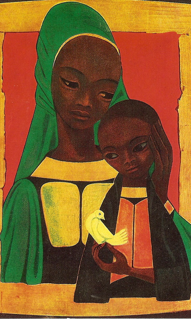 African Madonna, unknown artist.