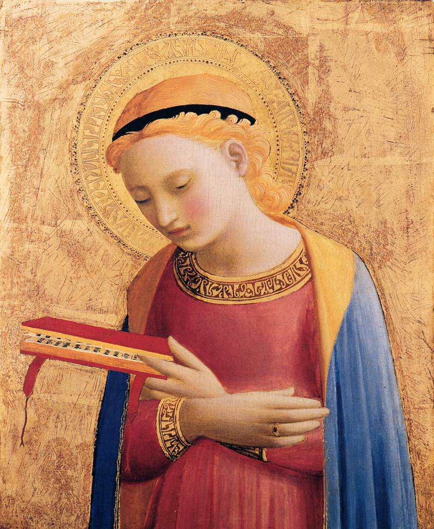 Virgin mary annunciate 1433 - Fra Angelico - Detroit Institute of Arts, Detroit, MI, USA