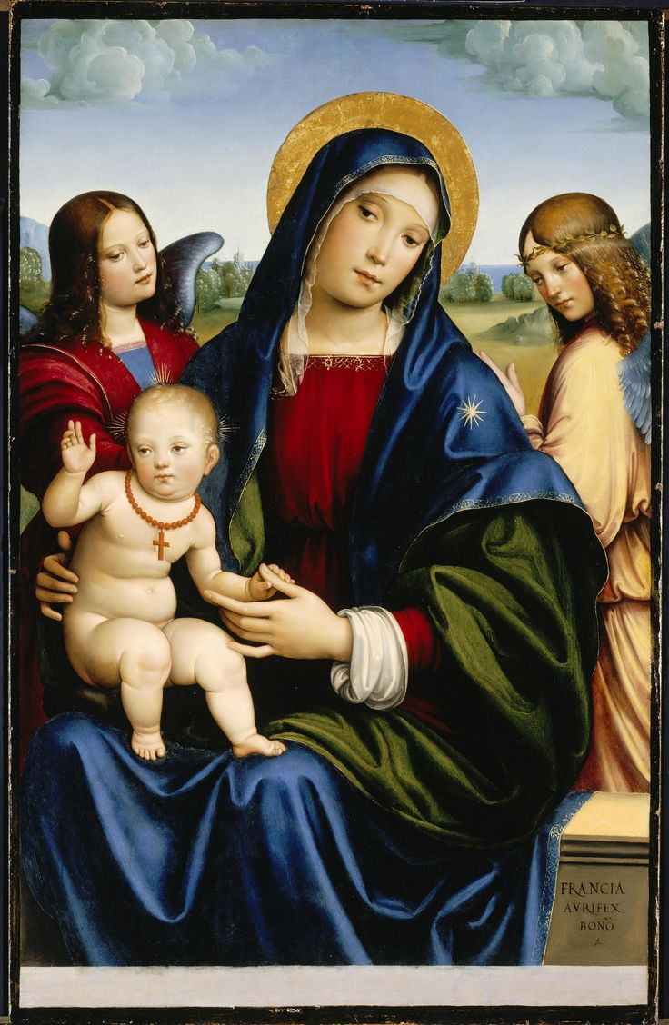 Virgin Mary, Francesco Francia, ca 1450, North Carolina Museum of Art, Raleigh, USA.