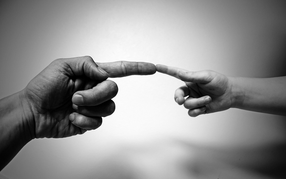 connection of hands