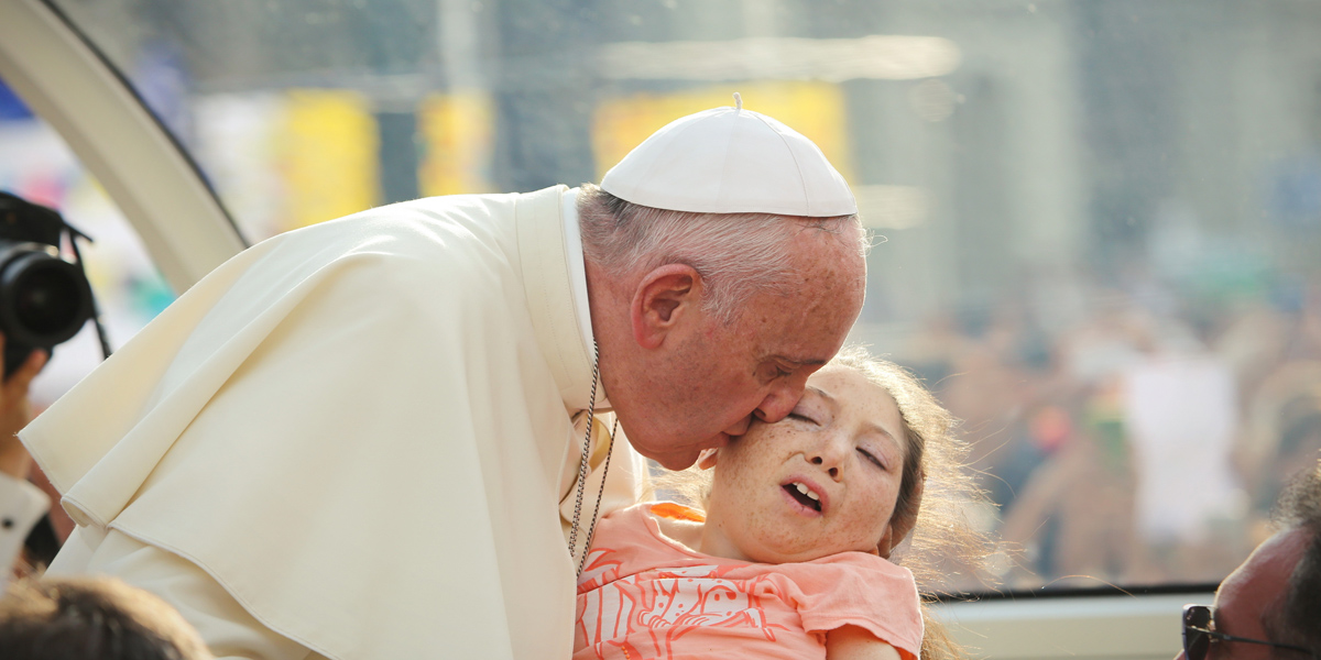 POPE,KISSES,CHILD