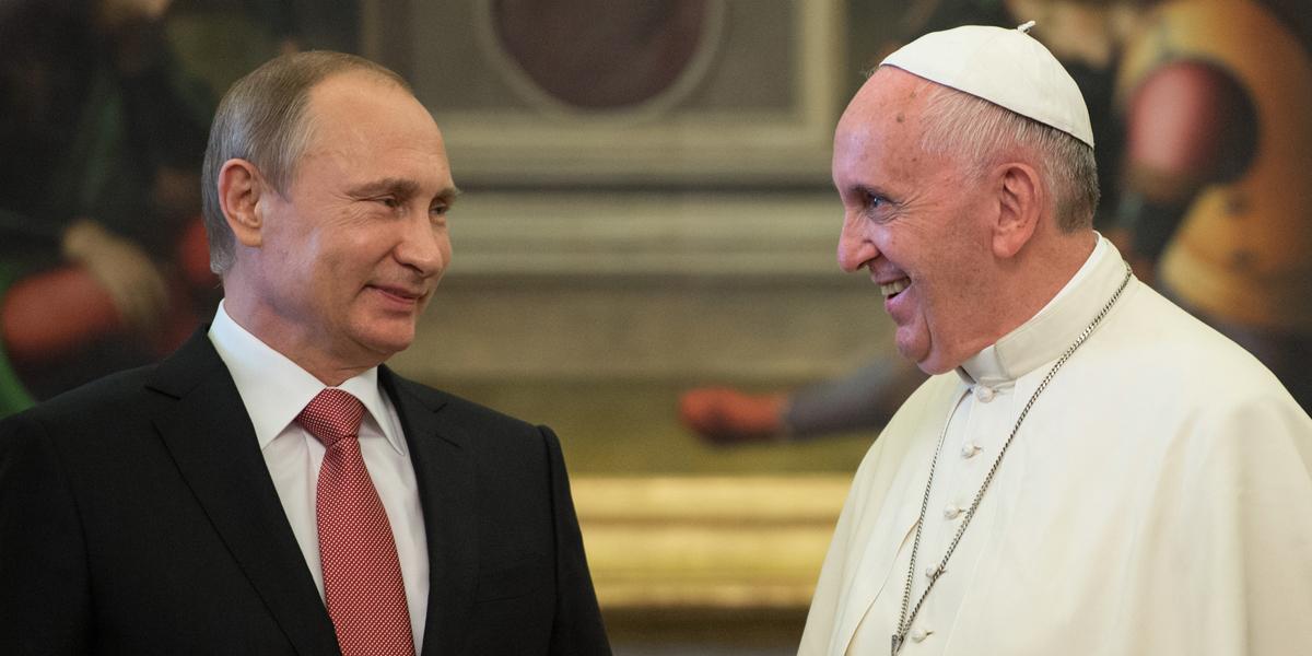 Pope Francis Putin