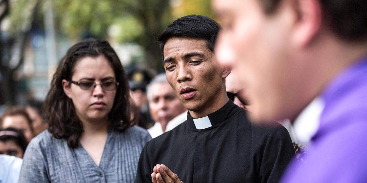 MEXICO EARTHQUAKE PRIEST
