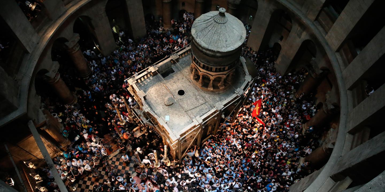 israel christian orthodox jesus tomb
