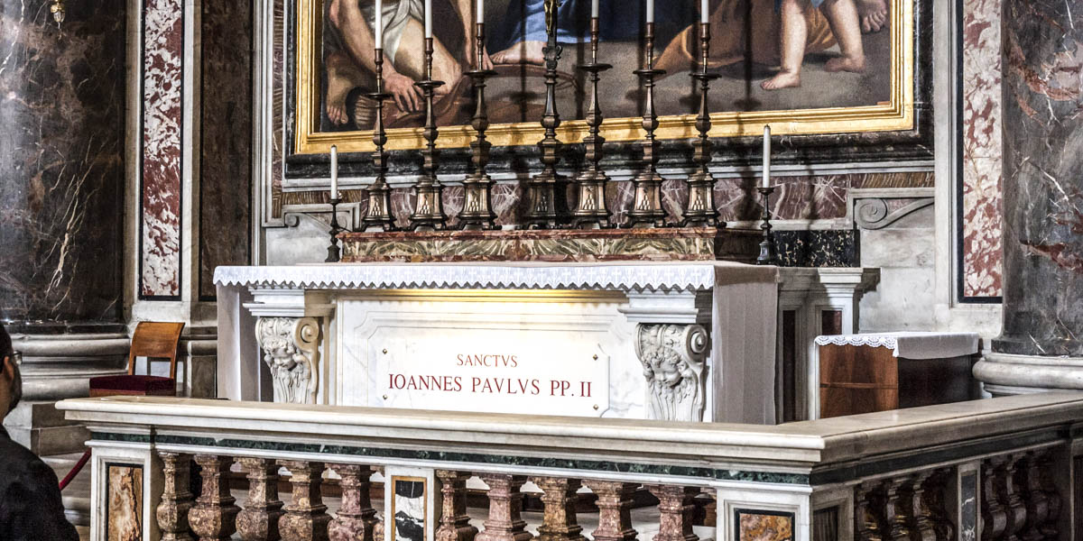 TOMB OF POPE JOHN PAUL II