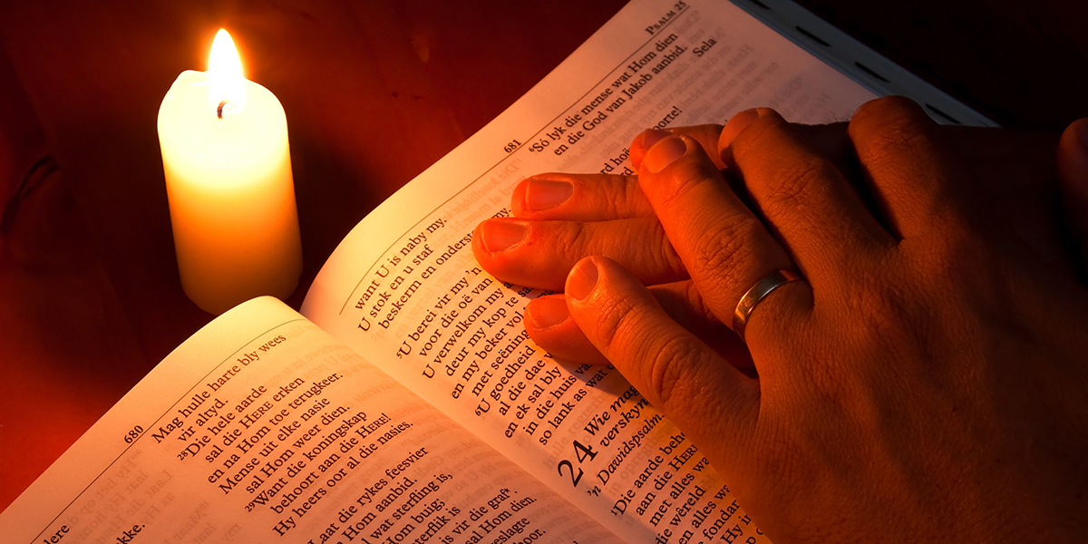 Bible candle light