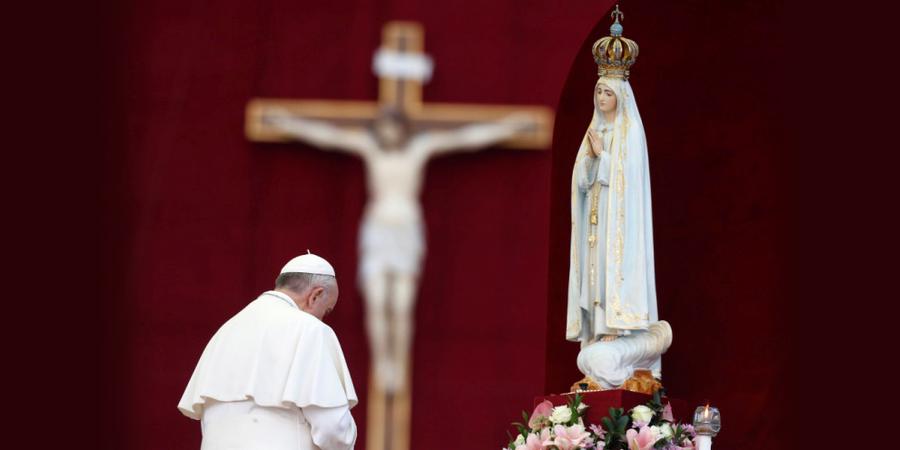 N Sra Fátima Papa Francisco