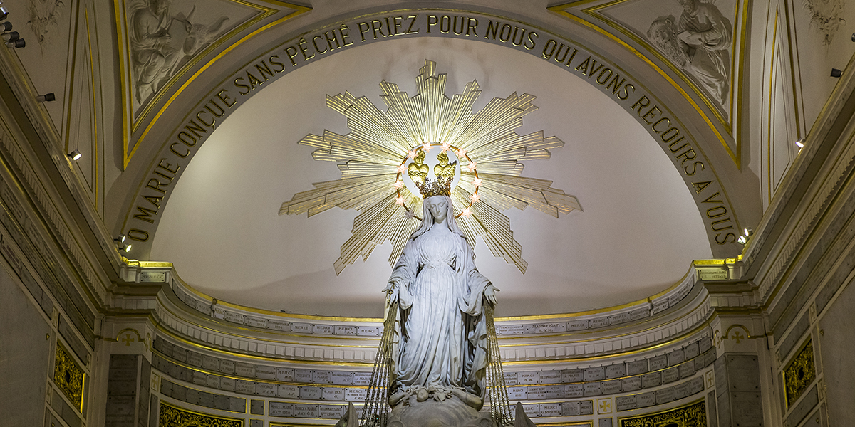 CHAPEL OF OUR LADY OF THE MIRACULOUS MEDAL IN PARIS