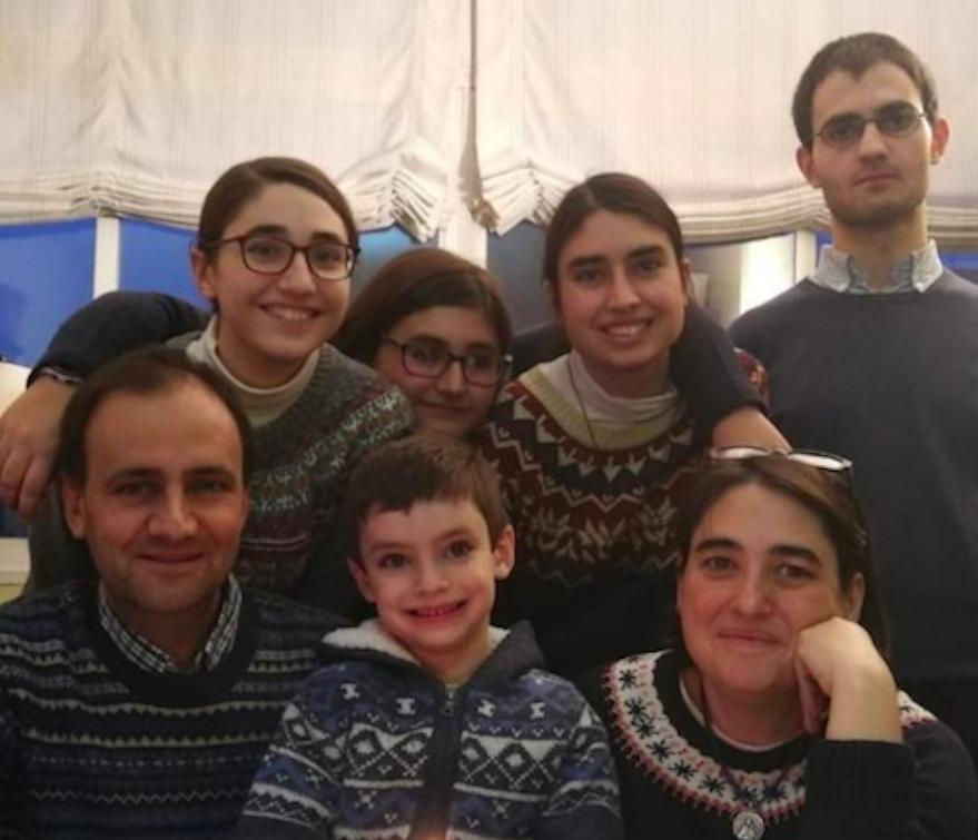 Guillermo y Pilar Carmena Ayuso y familia