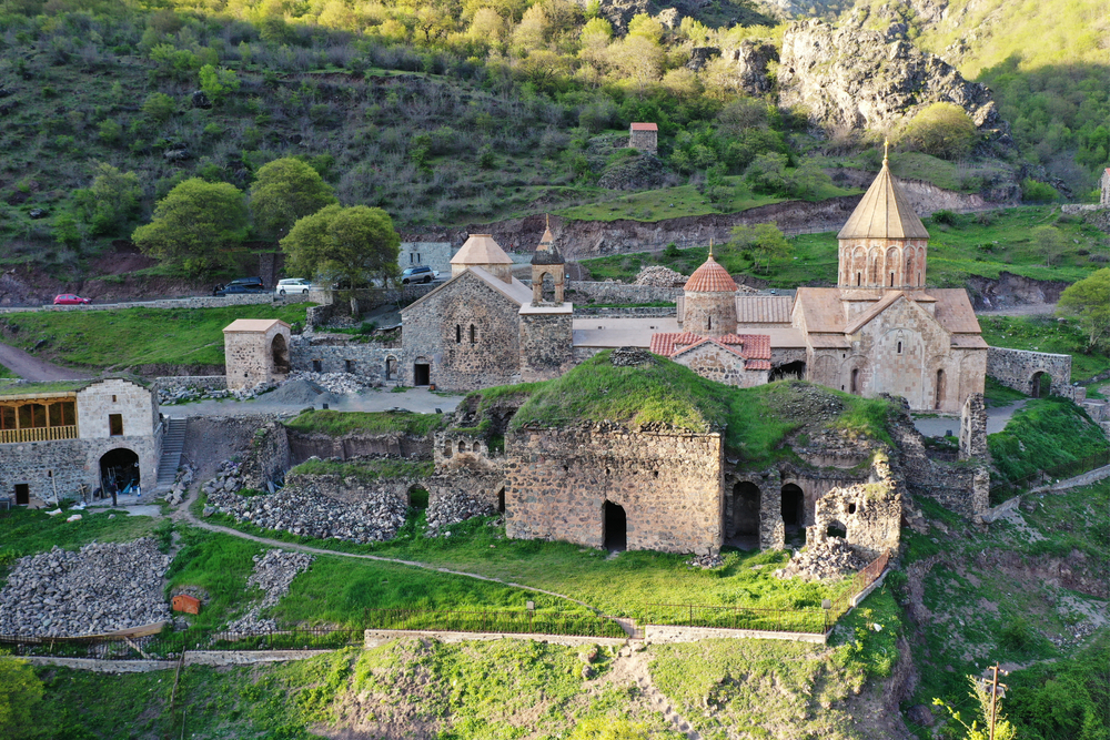Dadivank - monastery in the Shahumian Region of the Republic of Artsakh (Nagorno-Karabakh Republic). It was built between the 9th and 13th centuries